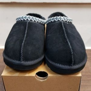UGG Men Black Fur Slip ons size 13